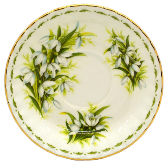 Royal Albert Flowers of the Month Series Floral China Saucer
