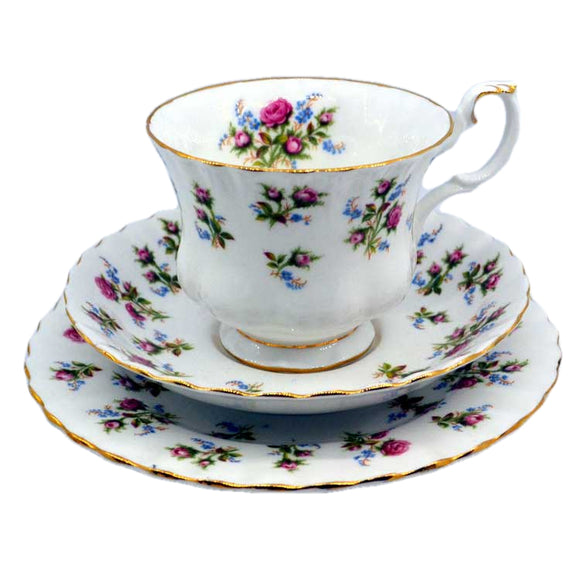 royal albert china winsome pattern tea cup trio