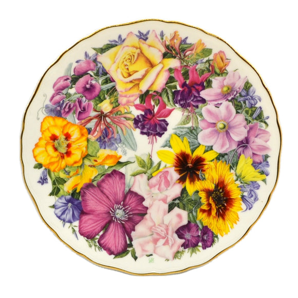 Royal Albert Floral China Birthday Bouquet Plate 1990
