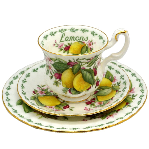 Royal Albert China Lemons Teacup Trio