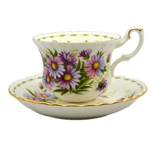 Royal Albert Flowers of the Month Series Floral China Tea Cup Michaelmas Daisy September