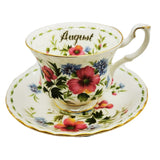Royal Albert Flowers of the Month Series Floral China Tea Cup Poppy August