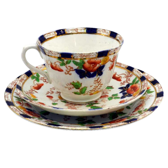 royal albion china burmah pattern tea cup saucer and plate set