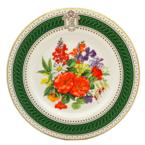 Royal Crown Derby China Royal Birthday Bouquet Plate 1985