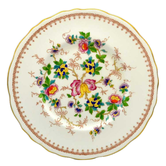 Royal Cauldon porcelain plate Keepsake pattern