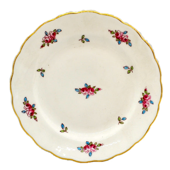 Royal Chelsea Pattern 1433 Pink Rose Bud Floral China 6.25-inch Side Plate