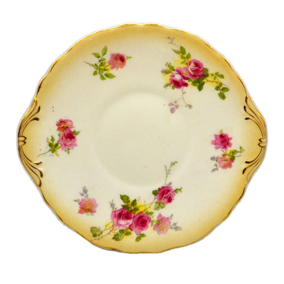 Antique Royal Doulton China Blush Ivory Rose E2636 cake Plate