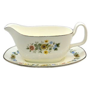 Royal Doulton Pastorale H5002 Gravy Boat Jug and Saucer