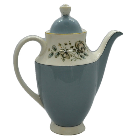 coffee pot rose elegans royal doulton china