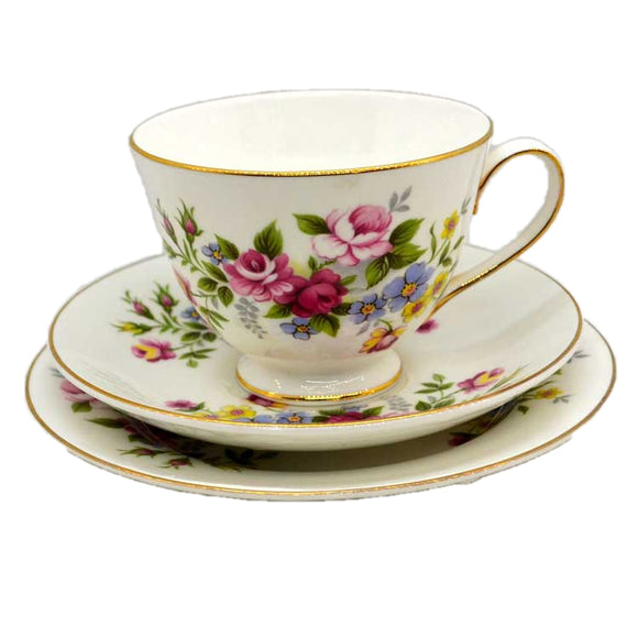 Royal Grafton Floral China Teacup Trio