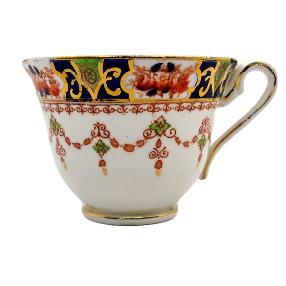 Royal Stafford China Mona Blue Imari cup