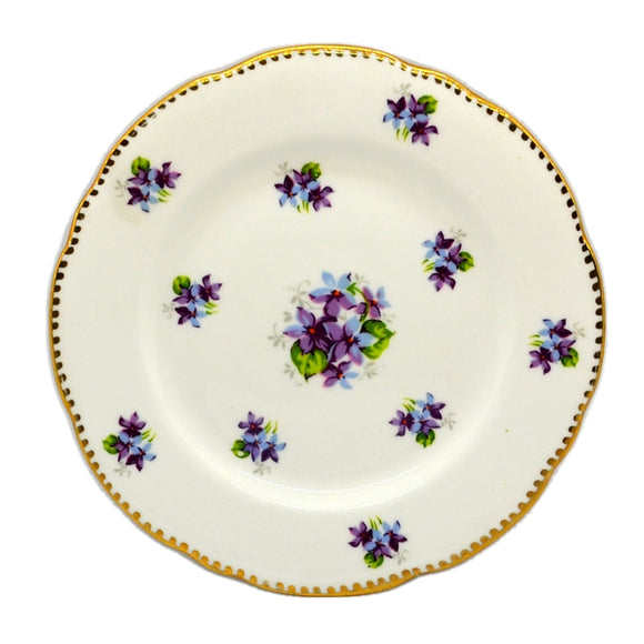 Royal Stafford Sweet Violets China Side Plate Hand Painted Floral China