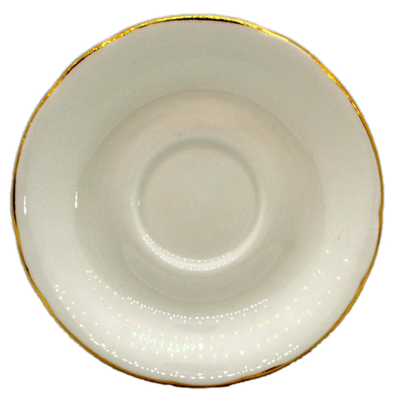 Royal Standard China White and Gold Saucer
