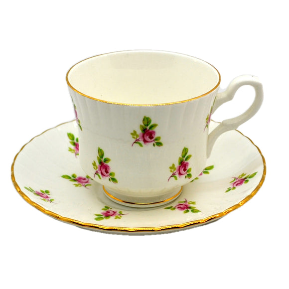 Royal Stafford Rosebud 1970's Floral China Tea Cups