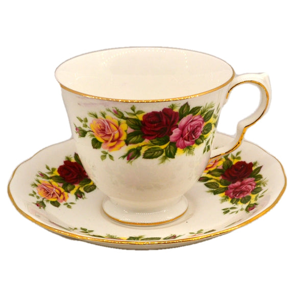 Royal Vale Ridgway Floral China 8281 Teacup and Saucer