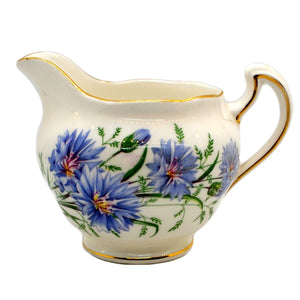 Royal Vale bone china blue cornflower milk jug