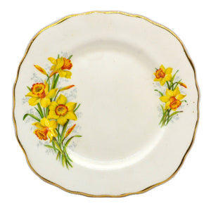 Royal Vale Floral China Daffodil Square Side Plate