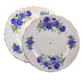 Royal Vale Cornflower china cake stand plates