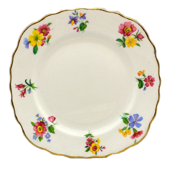Colclough Vale Floral China Tea Plates 1945-1948