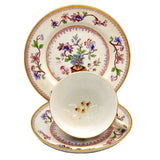 Antique Royal Worcester B800 Floral China Teacup 1905