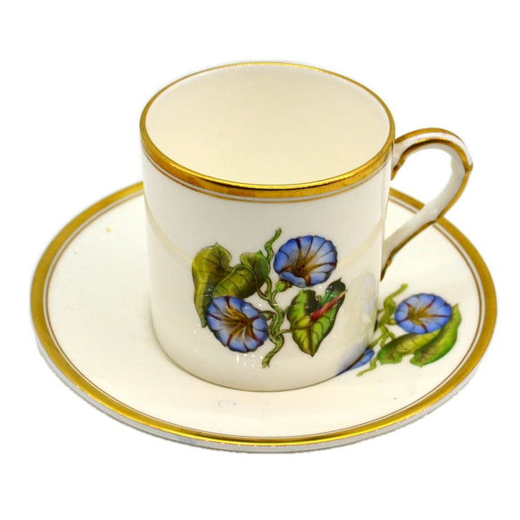 Royal Worcester China Convulvulus Cup and Saucer 1959