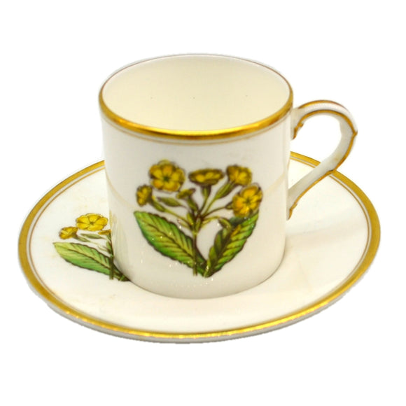Royal Worcester China Polyanthus Cup and Saucer 1959