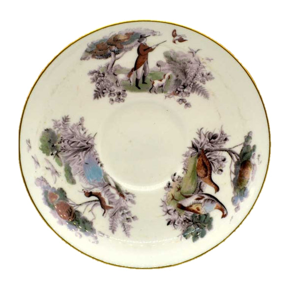 royal worcester game shooting saucer
