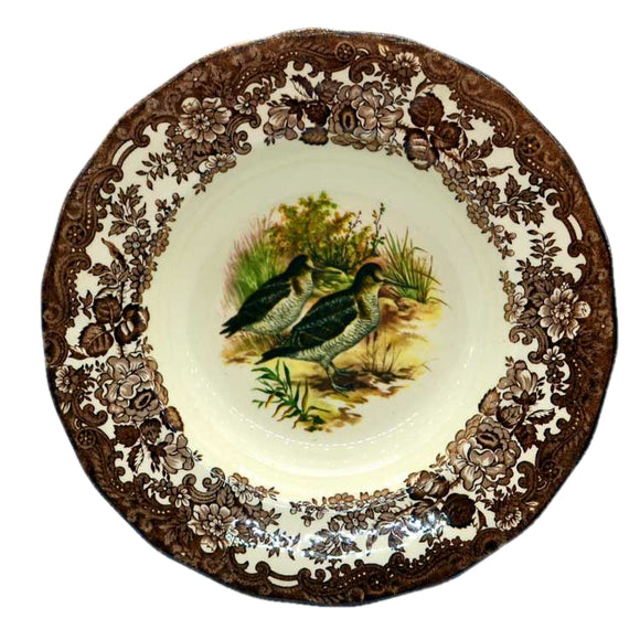 game series woodcock rimmed bowls royal worcester palissy china