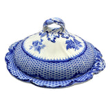 Antique Cauldon Blue and White floral china Tureen