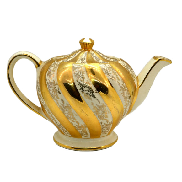 James Sadler 1539 Gilt Floral Swirl Teapot