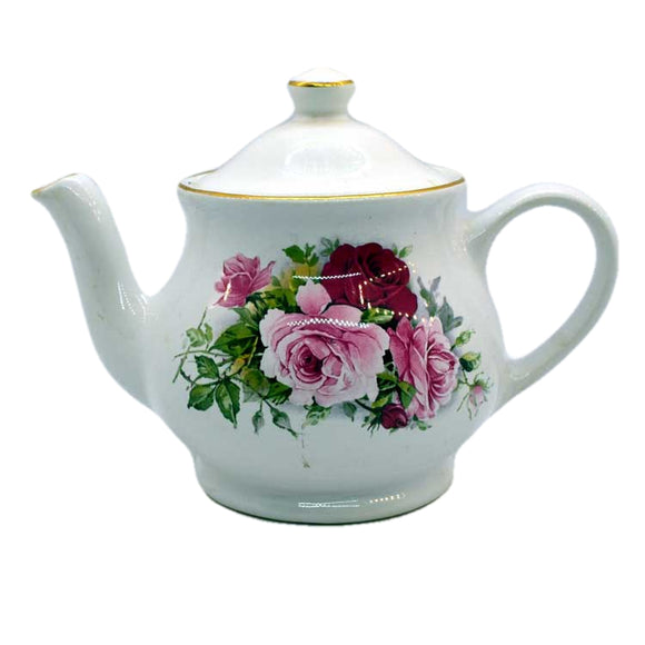 James sadler teapot pink roses