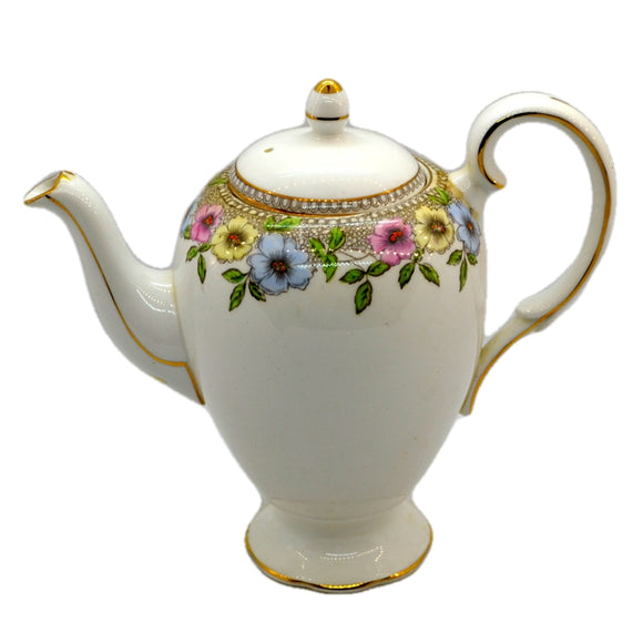 Salisbury China Stanhope pattern Floral Coffee Pot