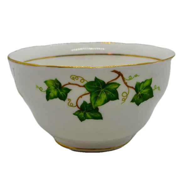 Colclough Ivy Leaf bone china large scalloped rim sugar bowl