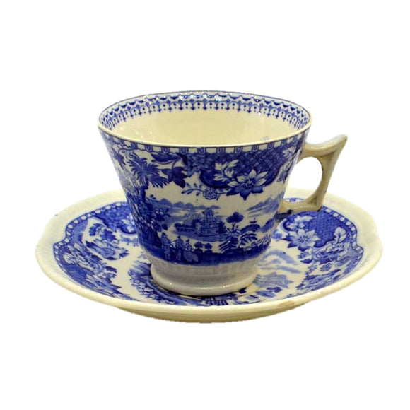 Antique seaforth wood and sons blue and white china teacups