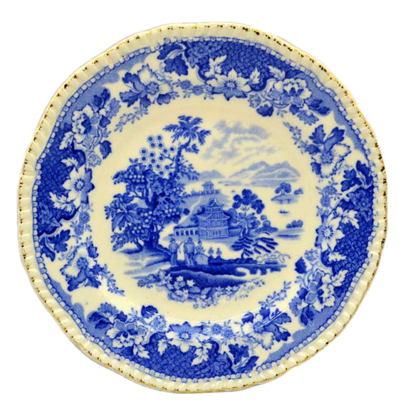 seaforth antique blue and white china side plates