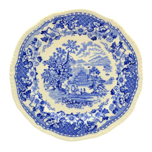 Wood & Sons Seaforth Blue and White China 7 Inch Side Plates
