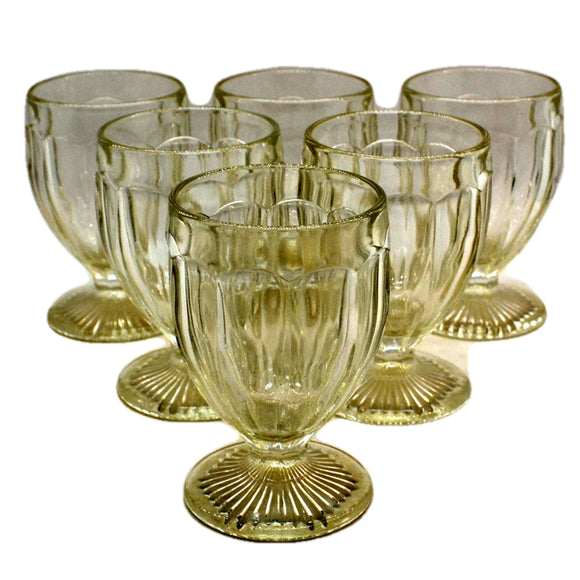 Set of Six Vintage Sundae Glasses