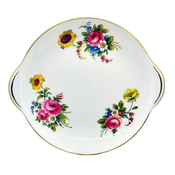 shelley china vintage floral cake plate 14170 pattern