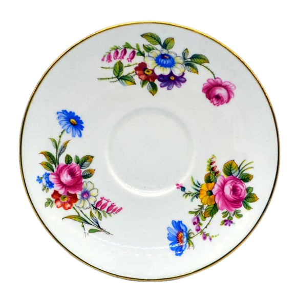 Shelley china 14170 pattern floral saucers