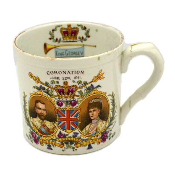 Small Shelley China 1911 George V Coronation China Mug