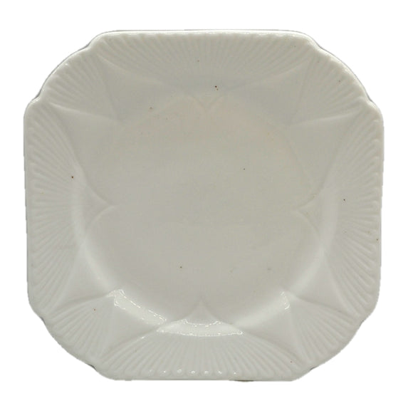 Shelley Art Deco White China Square Side Plates 735121 c1928