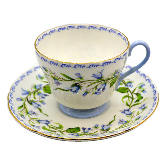 Vintage Shelley Harebell 13544 Floral China Teacup and Saucer