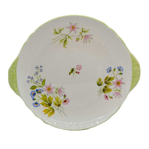 Shelley wild anemone 13977 floral cake serving plate