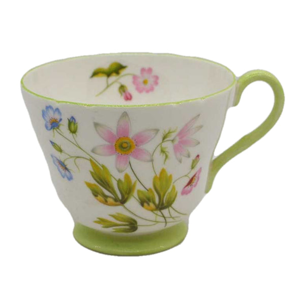 vintage shelley china tea cups wild anemone
