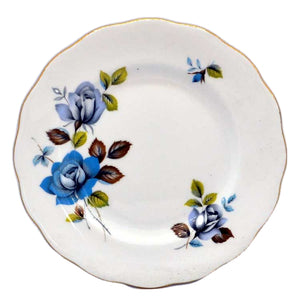 blue mist royal standard side plates vintage bone china