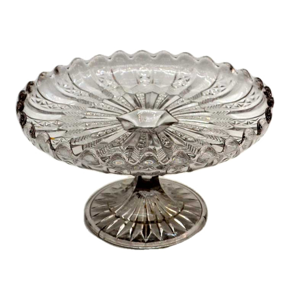 Vintage Glass Cake Stand c1930 Art Deco