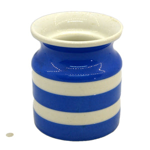 Small T G Green Cornish ware electric blue and white china Jar