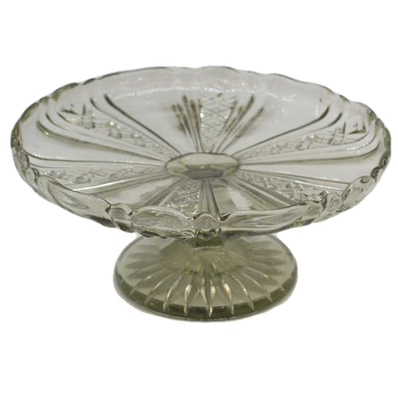 victorian english glass small cake stand