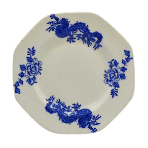 Soho pottery Ltd china blue dragon side plate