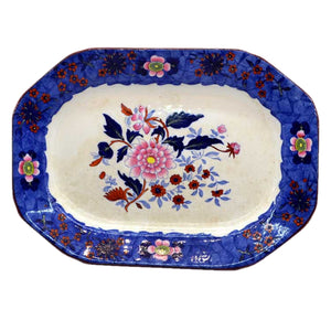 Antique 12.5 inch spode serving platter
